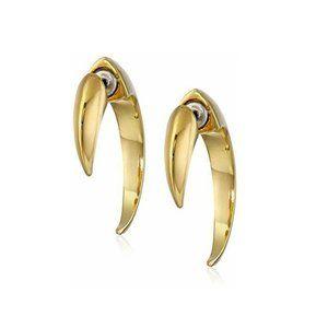 Vince Camuto Gold Horn Hoop Earrings Talon ASO